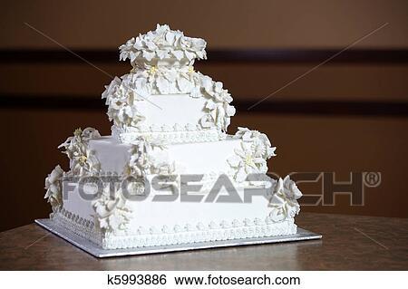 Luxe Gâteau Mariage Banque De Photographies