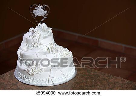 Luxe Gâteau Mariage Banque Dimage