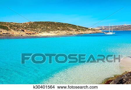 The Blue Lagoon On Comino Island Malta Gozo Picture