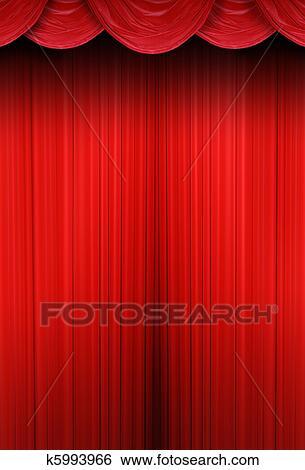 Stock Afbeeldingen - theater, gordijnen, van, rood doek k5993966 ...