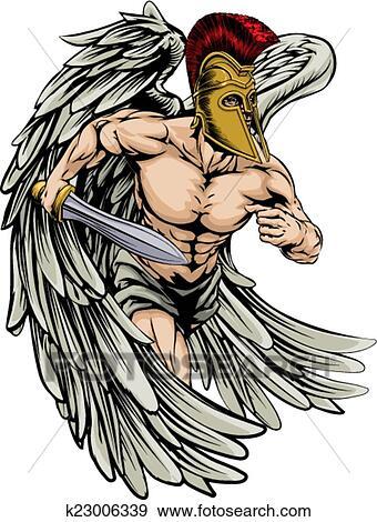 Warrior angel Clip Art | k23006339 | Fotosearch
