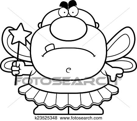 clip art of cartoon angry tooth fairy k23525348 search clipart rh fotosearch com tooth fairy clip art images tooth fairy clipart black and white