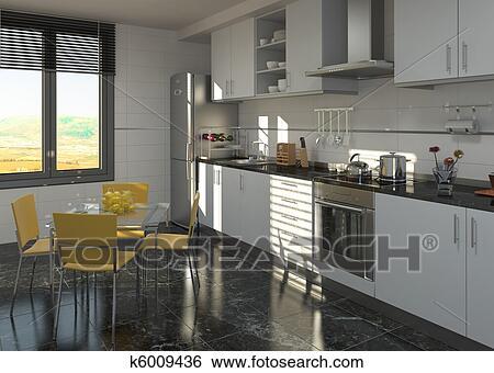 Colección de imágenes - cocina, diseño de interiores k6009436 ...