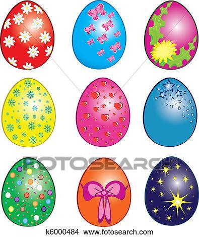 easter eggs clipart k6000484