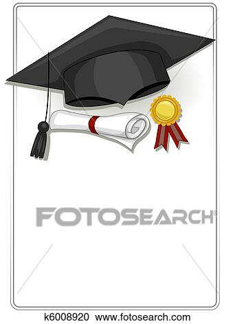 Stock Illustrations of Graduation Frame k6008920 - Search Clipart ...