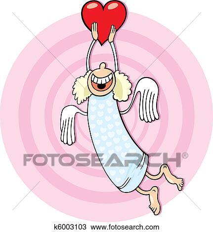 Clipart angelo con cuore k6003103 cerca clipart for Clipart cuore