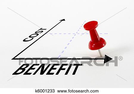 Kosten, nutzen, analyse, begriff, mit, ziel, stift ...