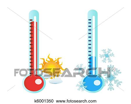 clipart of thermometer in hot and cold temperature k6001350 search rh fotosearch com cold clip art free cold clipart images