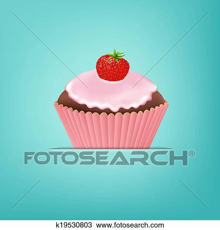 Kresba Cupcake S Smotanka A Jahoda K19530803 Prehľadavaj