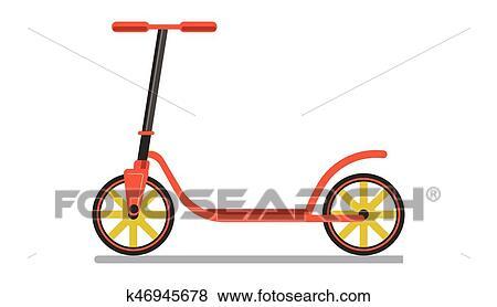 Clip Art - rojo, coloreado, patineta k46945678 - Buscar Clip Art ...