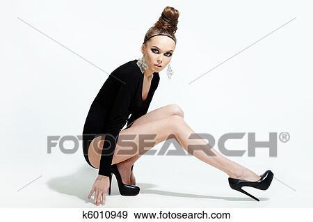 Vollbusige Modells Posieren