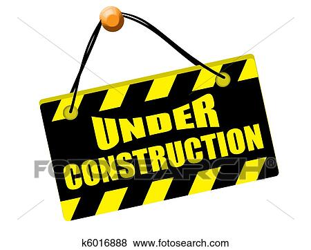 clip art of under construction sign k6016888 search clipart rh fotosearch com under construction clipart free under construction clipart florida