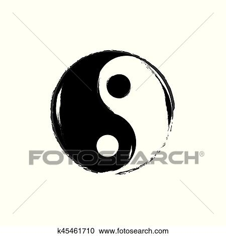 Clipart Of Yin Yang Symbol Vector K45461710 Search Clip Art