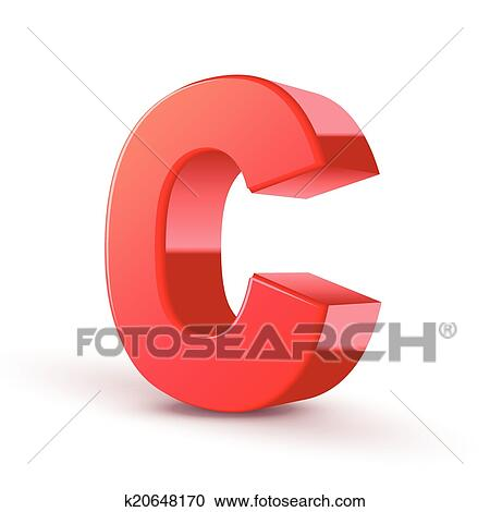 Clipart Of 3d Red Letter C K20648170 Search Clip Art Illustration
