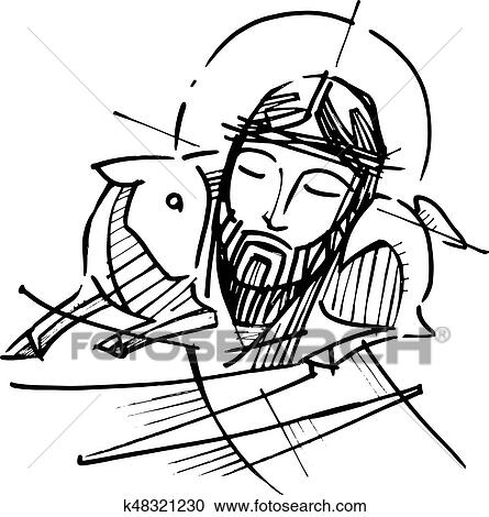 Clipart Of Jesus Christ Good Shepherd K48321230