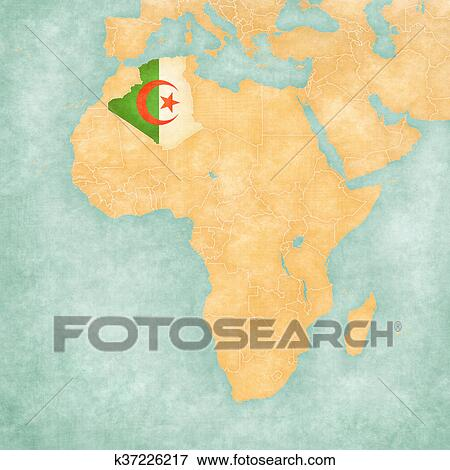 algeria on africa map Map Of Africa Algeria Stock Illustration K37226217 Fotosearch algeria on africa map