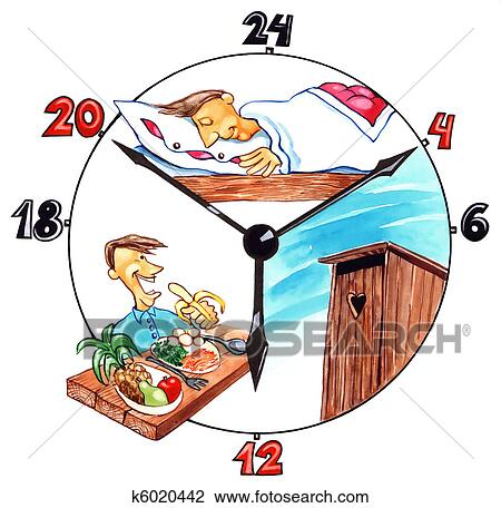 Clip Art Of The Day Of Healthy Man K6020442 Search Clipart