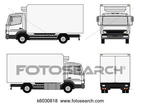 イラスト トラック