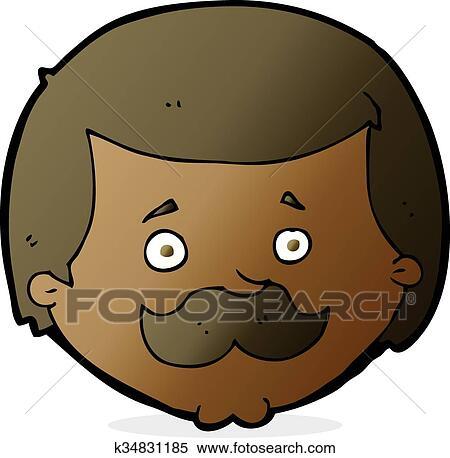 Cartone animato uomo con baffi clipart k fotosearch