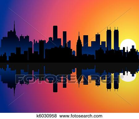 clip art of city background k6030958 search clipart illustration