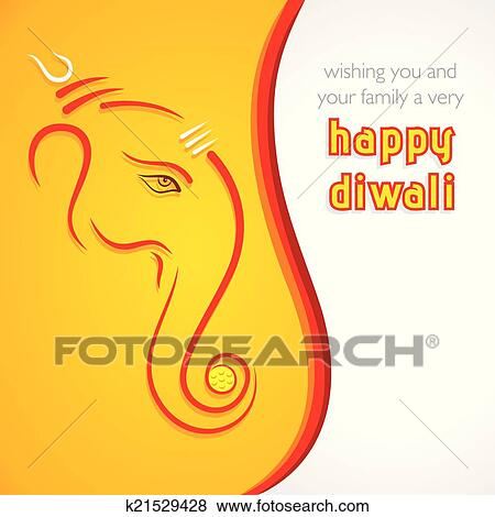 Clip art of creative happy diwali greeting card k21529428 search clip art creative happy diwali greeting card fotosearch search clipart illustration posters m4hsunfo