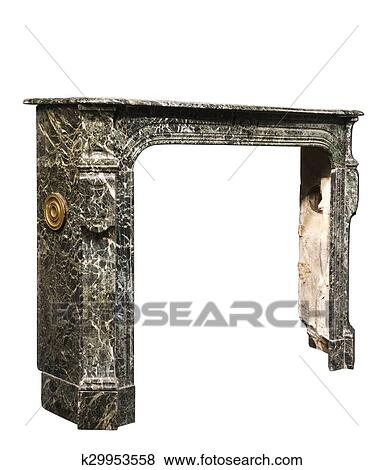 Pictures of Fireplace surround in grey white marble antique ...