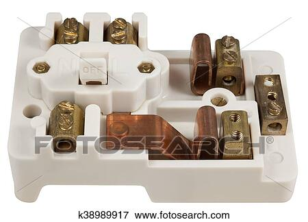 Inside an Old Fuse Box Stock Photo | k38989917 | FotosearchFotosearch