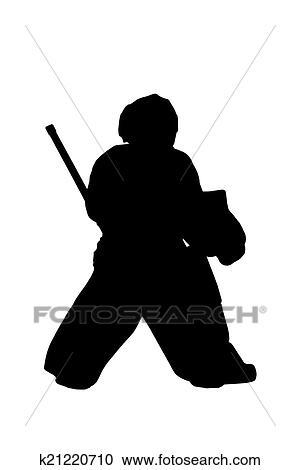 Silhouette Hockey Goalie Clipart K21220710 Fotosearch