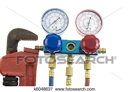 Air Conditioning Tools >> Air Conditioning Tools Stock Photo