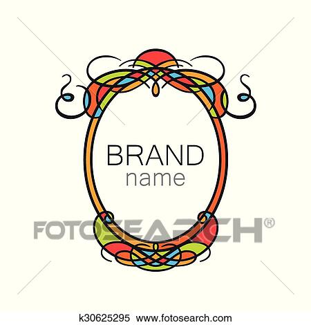 Clipart of brand name frame logo k30625295 - Search Clip Art ...