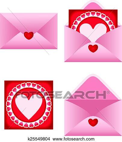 Clipart busta con cuore cartolina k25549804 cerca for Clipart cuore