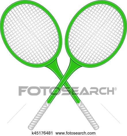 Clipart Of Crossed Tennis Rackets In Retro Design K45176481 Search