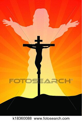 Gesù cristo resurected clip art k18360088 fotosearch