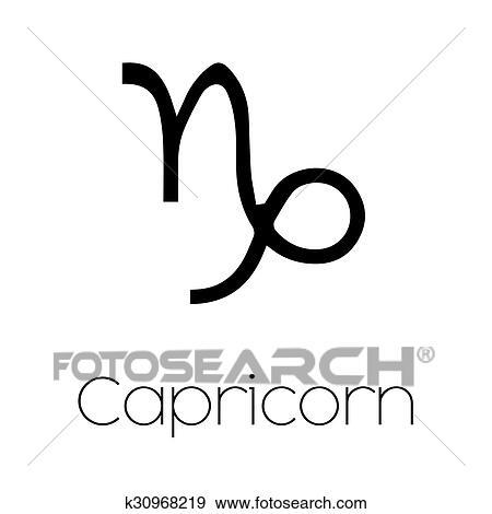 Clip Art Of Illustrated Zodiac Symbol Capricorn K30968219 Search