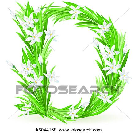 Clip art of one letter of spring flowers k6044168 search clipart clip art one letter of spring flowers fotosearch search clipart illustration posters mightylinksfo