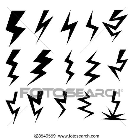 clip art of set of thunder and lighting collection k28549559 rh fotosearch com vector clipart collection vector clipart collection