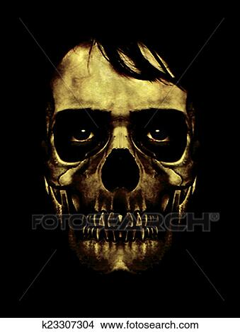 Dessins sombre halloween masque portrait k23307304 - Dessin sombre ...