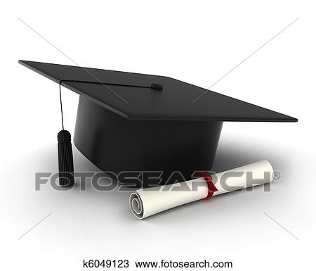 Dibujo Tapa Graduacion Y Diploma K6049123 Buscar Clip Art