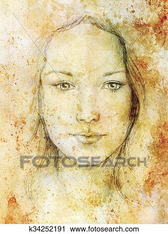 Woman With Eyes Of A Child Art Drawings