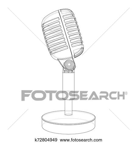 Lead Your World - Old Fashioned Microphone Drawing Clipart (#4105189) -  PinClipart