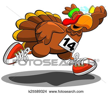 clipart of turkey trot k25589324 search clip art illustration rh fotosearch com clipart of a turkey running clipart of a turkey feather