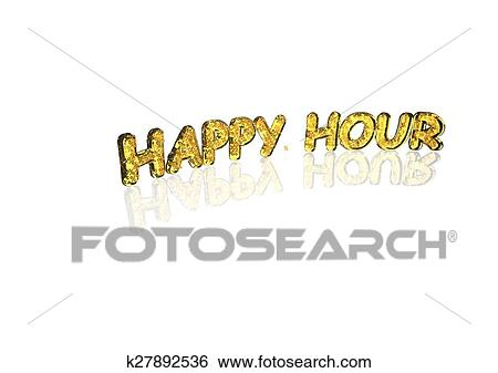 Stock Illustration Of Word Happy Hour Made From Percentage Symbols