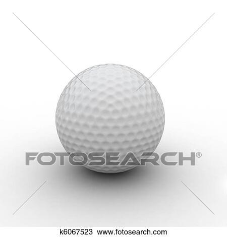 Kresba 3 Render O Golf Koule K6067523 Hledat Klipart