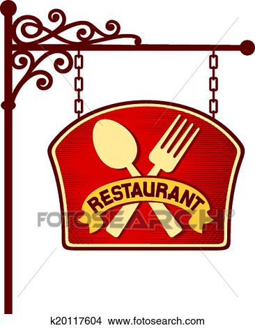 clipart of restaurant sign k20117604 search clip art illustration rh fotosearch com clip art restaurant clip art restaurant workers
