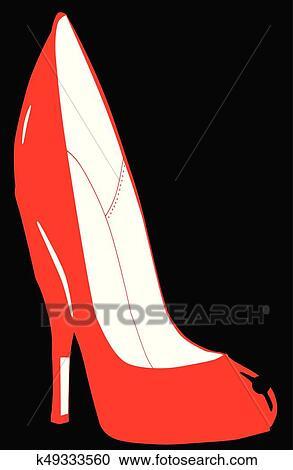 289405481 رسم كاريكتوري, كعب stiletto, إنتعل Clipart | k49333560 | Fotosearch