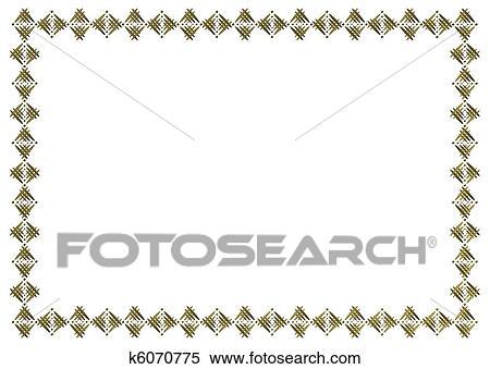イラスト 写真フレーム A4 K6070775 クリップアートスケッチ