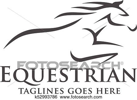 Abstract Horse Racing Logo Template Clip Art K52993786 Fotosearch