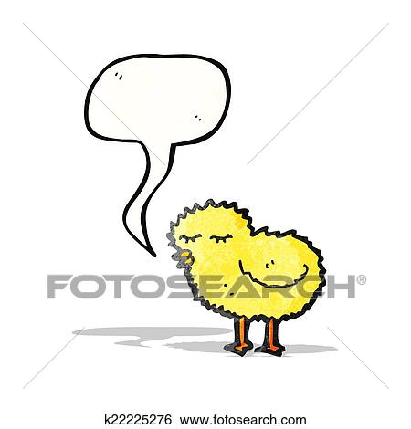 clip art of chirping little chick k22225276 search clipart