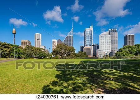 Sydneyu0027s Eastern Skyline Taken From The Botanic Gardens