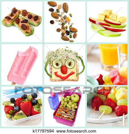 Collection Of Healthy Snacks Particularly For Children